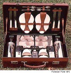 Vintage Asprey picnic set.