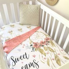 Sweet Dreams In Gold Cot Set