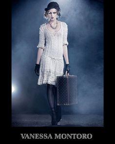 Vestido Vanessa Montoro | crochet dress 20s flapper #fashion #style