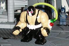Custom Bane Big Fig Big Fig, Lego Dc, Custom Lego, Lego Creations, Bane, Awesome Stuff, Superhero, Character, Lettering