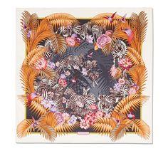Foulard in seta con stampa giungla. Collezione AI 2016