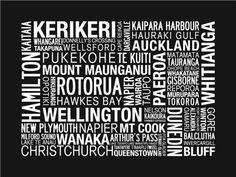 NZ town names Maori Symbols, Christchurch New Zealand, Town Names, New Zealand Houses, Maori Designs, Visit New Zealand, Nz Art, The Way I Feel, Kiwiana