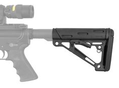 AR-15/M-16 OverMolded Collapsible Buttstock - Fits Mil-Spec Buffer Tube - Black Rubber | Hogue Inc.