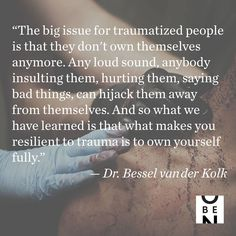"""1,554 Likes, 42 Comments - On Being (@onbeing) on Instagram: """"On Being talks human resilience with Dr. Bessel van Der Kolk of the Trauma Center at the Justice…"""""""