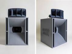 Commanding and retro, low-tech and sculptural, the speakers have amassed a fanbase that includes Supreme, Saturdays NYC, and Virgil Abloh. Pro Audio Speakers, Horn Speakers, Diy Speakers, Hifi Audio, Off White Store, Off White Designer, Metal Horns, Floor Standing Speakers, Altec Lansing
