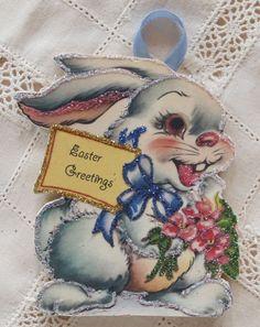 vintage Easter ornaments card