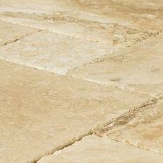 Builddirect Travertine Tile Denizli Beige Antique Pattern Brushed Chiseled And Partially Filled