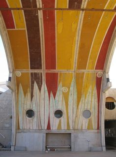Detail of Arched Vaults at Paolo Soleri's Arcosanti, Arizona