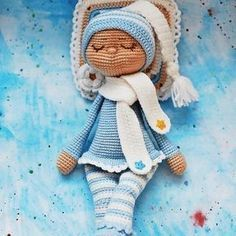 Sonia the sleeping doll amigurumi
