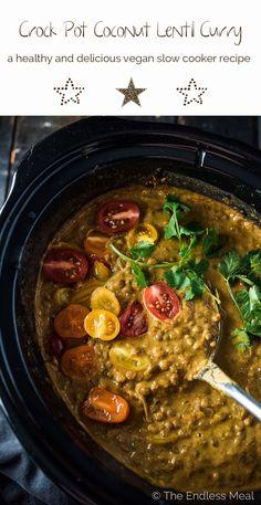 Crock Pot Coconut Lentil Curry | The Endless Meal
