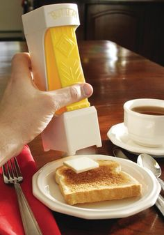 A one click butter cutter to make into the perfect sandwich ever