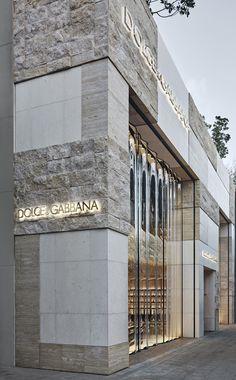 Facade Design, Exterior Design, Interior And Exterior, Stone Facade, Stone Cladding, Retail Facade, Luxury Store, Space Interiors, Facade Architecture