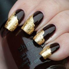 Lucy's Stash - gold leaf application