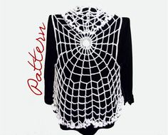 PDF Crochet Pattern: Spiderweb Lace Vest With Ruffled Edges