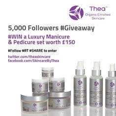 Thea Skincare www.theaskincare.com 5,000 twitter followers giveaway