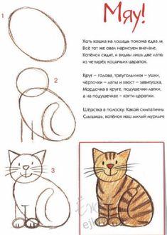 Cómo dibujar un gato sonriente, paso a paso (2)