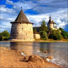 """PSKOV, ANCIENT RUSSIA CASTLES~ The name of the Pskov city, originally spelled """"Pleskov"""", may be loosely translated as """"the town of purling waters"""". Its earliest mention comes in 903, which records that Igor of Kiev married St. Olga. Pskovians sometimes take this year as the city's foundation date, and in 2003 a great jubilee took place to celebrate Pskov's 1,100th anniversary."""