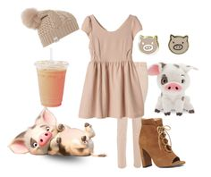 """""""Pua from Moana Disneybound"""" by miss-disney101 ❤ liked on Polyvore featuring J Brand, UGG Australia and Nine West"""