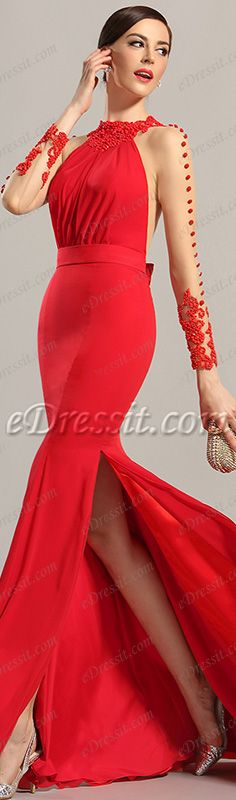 Say yes to this stylish RED evening gown! #edressit #dress #red #fashion #gown