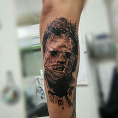 Leatherface addition to the horror sleeve.