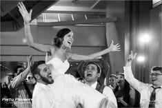Crowd surfing bride  Photo Credit- Maxim Photo Studio  #CincinnatiWedding #PartyPleasers