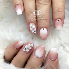Heat Up Your Life with Some Stunning Summer Nail Art 3d Nail Art, 3d Acrylic Nails, 3d Nails, 3d Nail Designs, Acrylic Nail Designs, Nail Swag, Mauve Nails, Pastel Nails, 3d Flower Nails