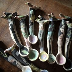 Working on 100spoons to be available in my Etsy shop soon!