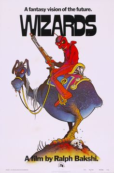 Fantasy future aesthetic. Wished the Bakshi flick held up to the potential of the poster.