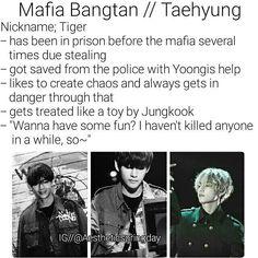 BTS Kim Taehyung V Imagine Mafia Bangtan