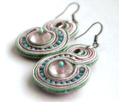 pastels  soutache earrings  by KimimilaArt