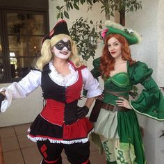 Pin for Later: 38 Epic Halloween Costume Mashup Ideas Harley Quinn and Poison Ivy as Pirates