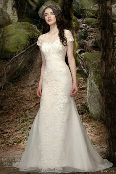 Unique gown with sleeve