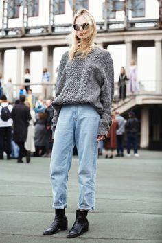 Façon mom jean vintage plutôt que skinny