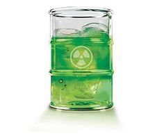 The uranium ore wasn't good enough for you? Maybe you haven't satisfied your quench for radioactive things yet. Now you can take things to the next level by drinking out of your very own radioactive waste drinking glass set.