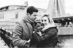 New Years Day, Boston Ma Proposal - Charlestown MA Zakim Bridge - Alisha Maria Photography