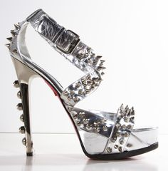Ruthie Davis Spiked Silver Sky-High Sandal #Shoes #Heels with <3 from JDzigner www.jdzigner.com