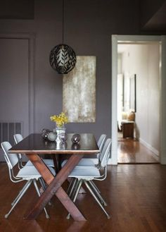 The paint is Benjamin Moore # 1462 'Gray Mountain'. It never gets old! I adore it.
