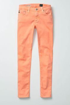 Clothing: AG Neon Stevie Ankle in Orange at Anthropologie (Made in USA)