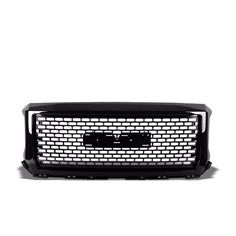 Front Glossy Black Mesh/Frame Edge Hood Grille For GMC 14-15 Sierra 1500 V6/V8