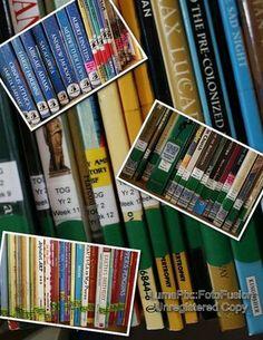 DIY home library organization system