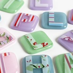 Glass Magnets - Wedding Favours, by Wendy Jeavons at Red Brick Glass