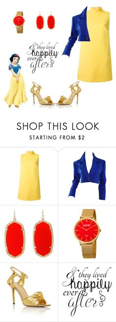 """Snow White"" by catthepunisher ❤ liked on Polyvore featuring RED Valentino, Yves Saint Laurent, Kendra Scott, August Steiner and Charlotte Olympia"