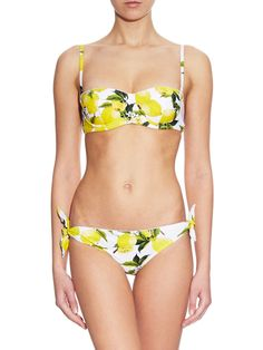Lemon-print self-tie bikini briefs | Dolce & Gabbana | MATCHESFASHION.COM US