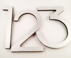 Modern House Number Eight inches tall in Brushed by INgrain, $18.00