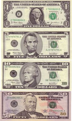 The history of the dollar in North America pre-dates US independence. It began with the issuance of Early American currency called the colon. Money Template, Bill Template, Templates, Presidents On Money, Printable Play Money, Money Wallpaper Iphone, Twenty Dollar Bill, Monopoly Money, Money Worksheets