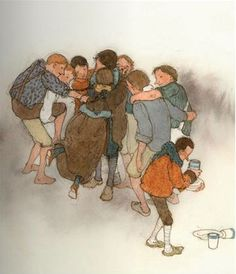 """Brother Grimm """"The seven ravens"""" illustrated by Lisbeth Zwerger"""