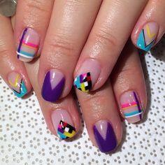 Fun bright #summernails #handpainted by @ohriginails #Gina #gelnail #nailart #VanityProjects