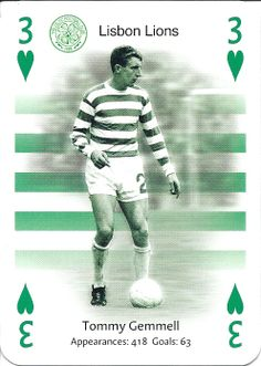 Greatest Ever Celts - Tommy Gemmell of Celtic. Steven Page, Celtic Fc, Association Football, Sport Football, Glasgow, Lions, Baseball Cards, Legends, Playing Cards