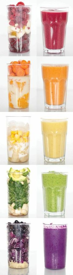 Healthy smoothie recipes to give you the boost of energy you need on Monday morning delivered right to your inbox each week! Perfect as a quick on the go meal for breakfast and for the whole family. Always compatible with a vegan vegetarian paleo g Smoothie Drinks, Healthy Smoothies, Healthy Drinks, Healthy Snacks, Healthy Eating, Smoothie Detox, Healthy Fruits, Vegetarian Smoothies, Paleo Fruit