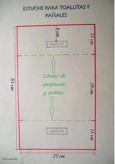 TUTORIAL DE ESTUCHE PORTA TOALLITAS Y PAÑALES: